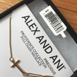 Alex and Ani Gold Cross Necklace